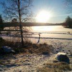 Het meer in de winter